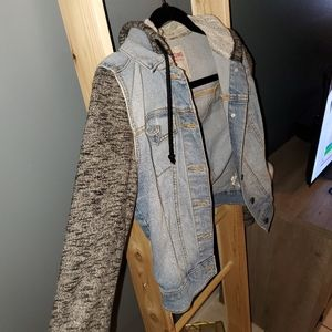 Mossimo Supply Co. Jackets & Coats - Denim Jacket with Hoodie
